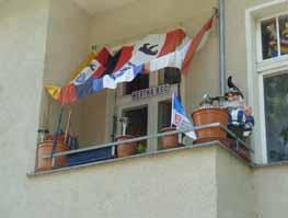 Balkon eines Hertha-Fans Foto: Juhnke